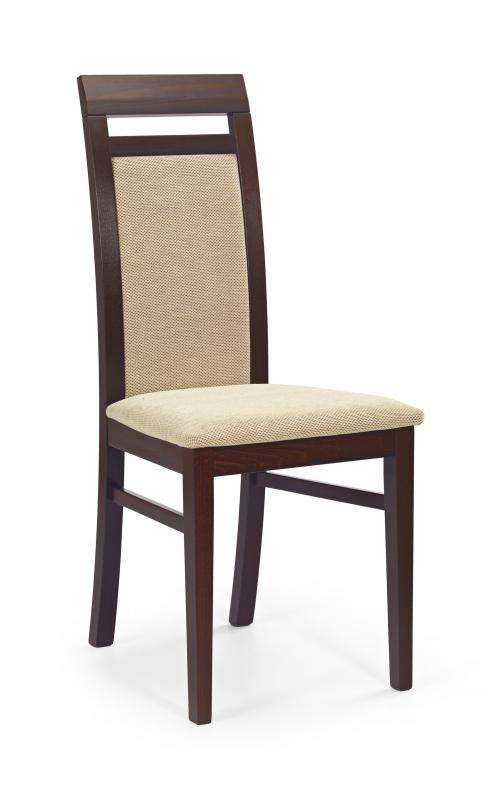 ALBERT krzesło ciemny orzech / tap: Torent Beige (1p=2szt)