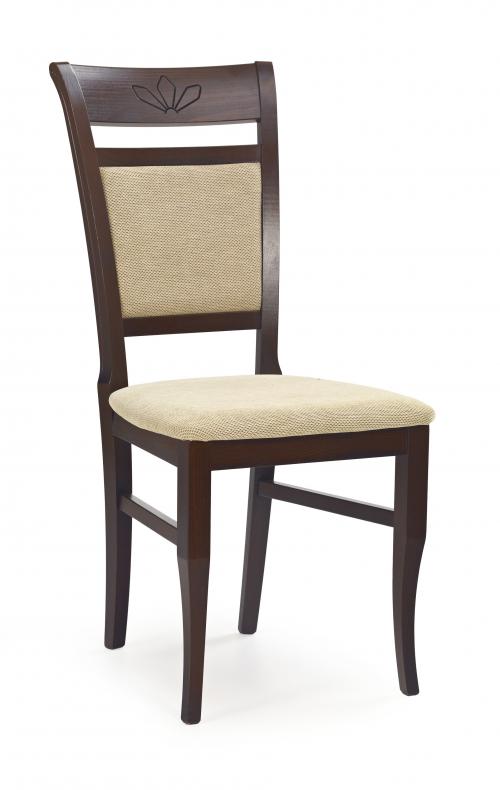 JAKUB krzesło ciemny orzech / tap: Torent Beige (1p=2szt)