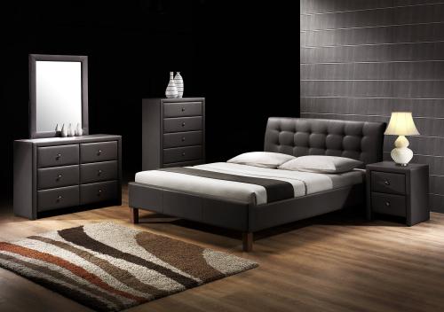 SAMARA łóżko czarny (2p=1szt.)