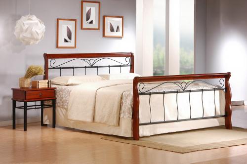 VERONICA łóżko 160 cm czereśnia ant./czarny (4p=1szt.)