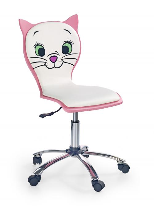 KITTY 2 fotel młodzieżowy biało-różowy