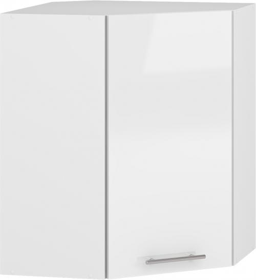 VENTO GN-60/72 szafka górna narożna front: biały