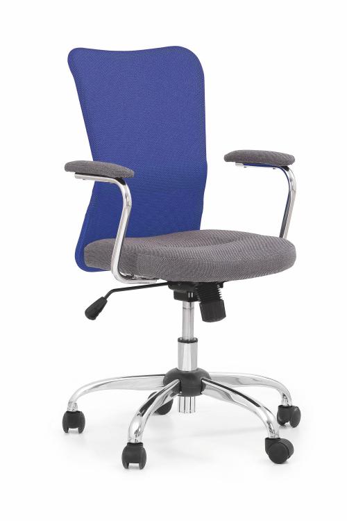 ANDY fotel młodzieżowy szaro-niebieski