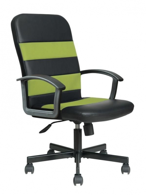 RIBIS fotel pracowniczy czarno-zielony