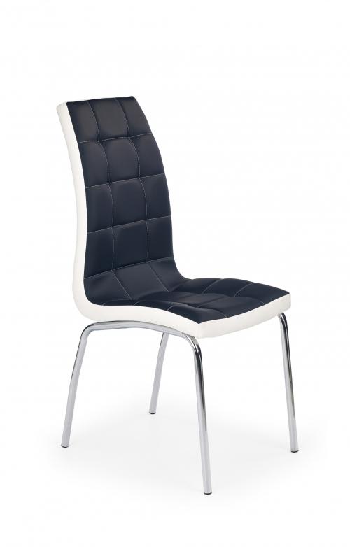 K186 krzesło czarno - białe (1p=4szt)