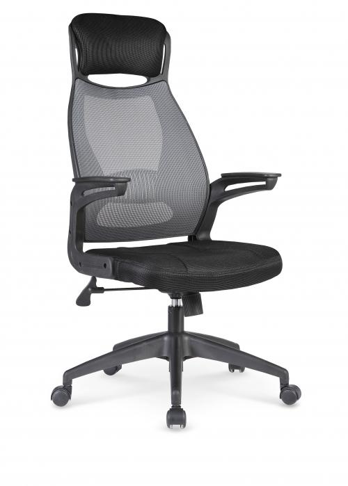 SOLARIS fotel pracowniczy czarno-popielaty