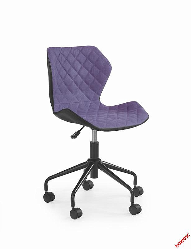 MATRIX krzesło obrotowe czarny/fioletowy (1p=2szt)