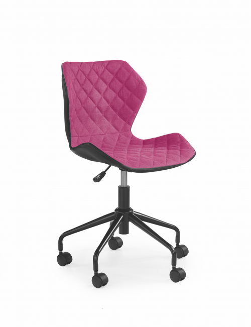 MATRIX krzesło obrotowe czarny/różowy (1p=2szt)