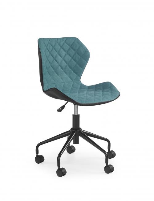 MATRIX krzesło obrotowe czarny/turkusowy (1p=2szt)