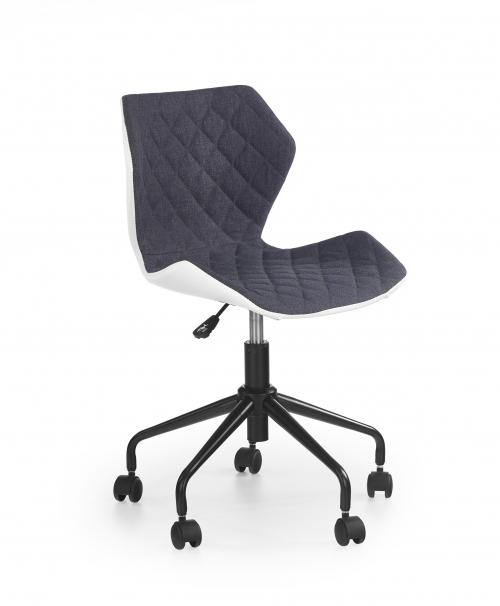 MATRIX krzesło obrotowe biały/popiel (1p=2szt)