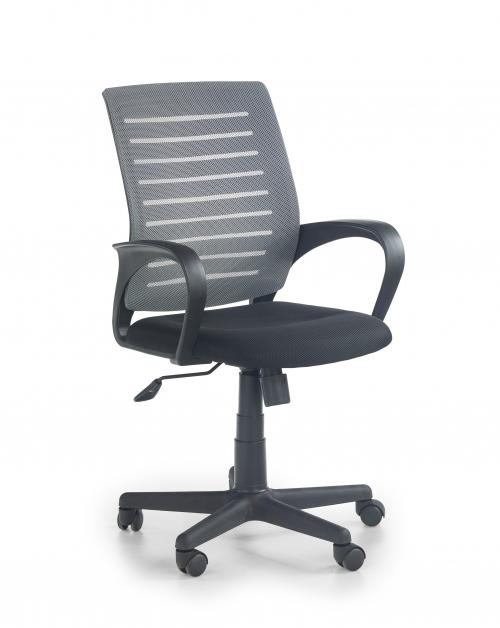 SANTANA fotel czarno-popielaty