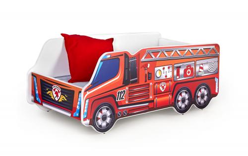 FIRE TRUCK łóżko wielobarwny