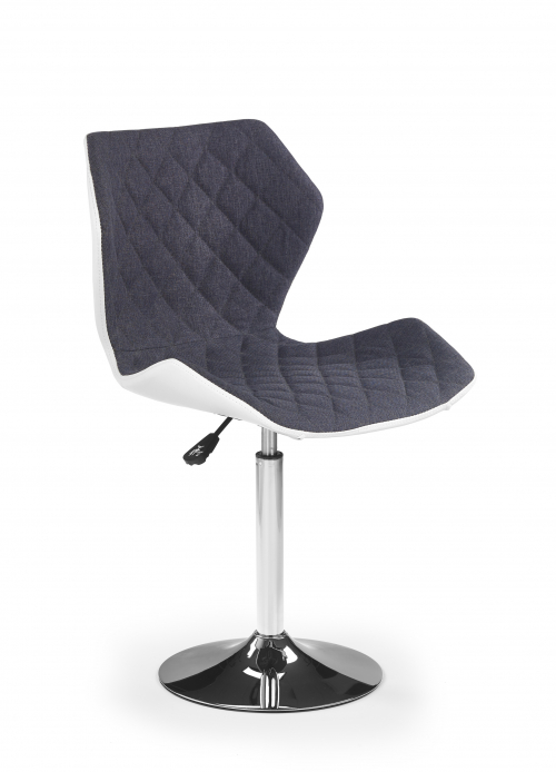 MATRIX 2 fotel biało-popielaty