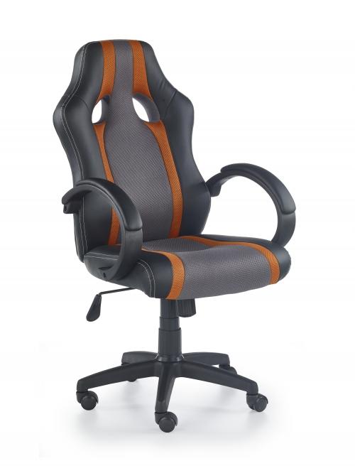 RADIX fotel gabinetowy popielato-pomarańczowy