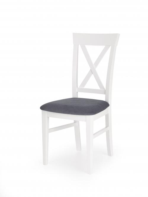 BERGAMO krzesło biało-granatowe