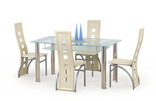 CRISTAL stół bezbarwny/mleczny (3p=1szt)