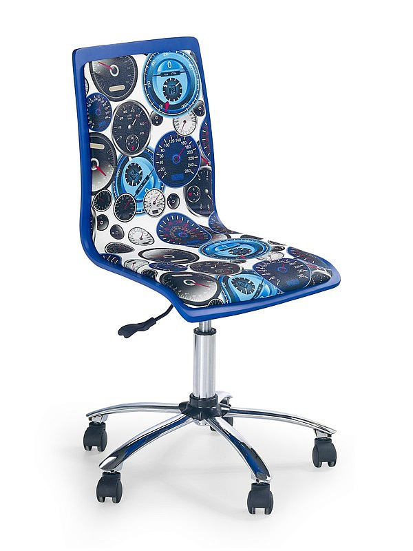 FUN8 fotel młodzieżowy biało-niebieski