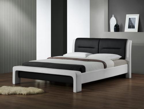 CASSANDRA 160 cm łóżko biało-czarny (3p=1szt)