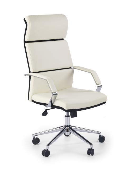 COSTA fotel gabinetowy biało-czarny
