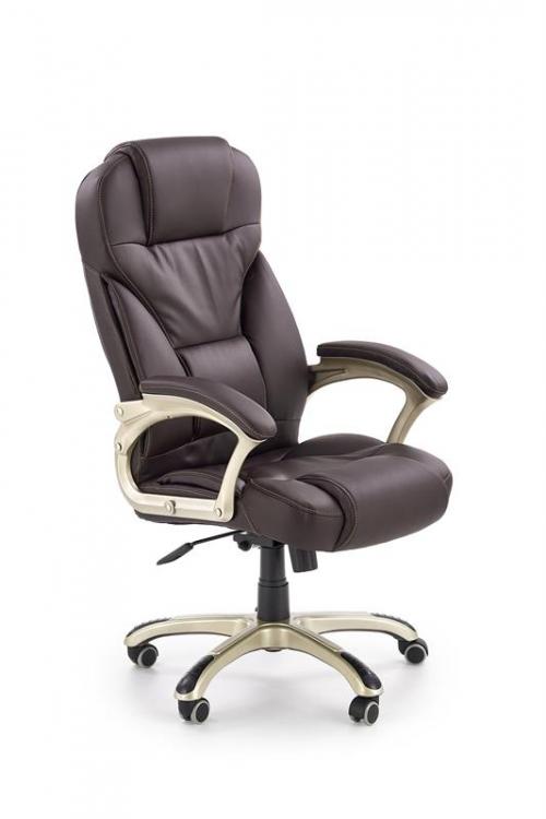 Fotel gabinetowy obrotowy DESMOND ciemny brąz