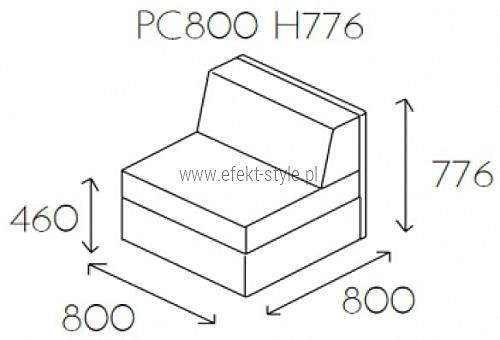Siedzisko proste PL@NET PC800 H776