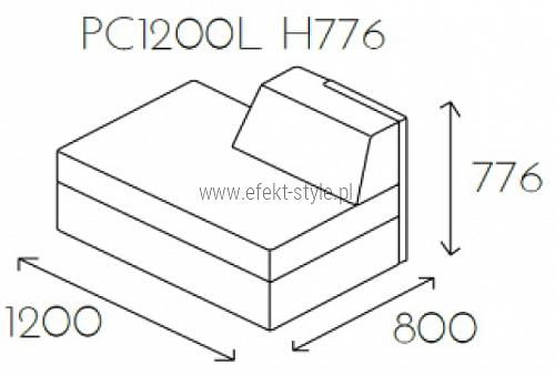 Siedzisko proste PL@NET PC1200L H776