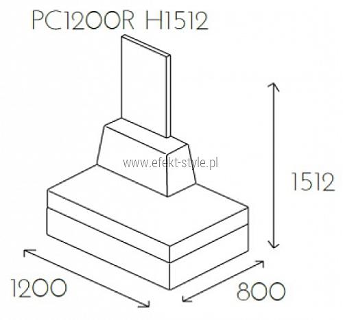 Siedzisko proste PL@NET PC1200R H1512