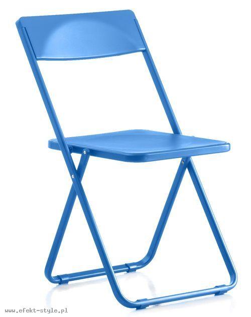 Krzesło konferencyjne SLIM  niebieski