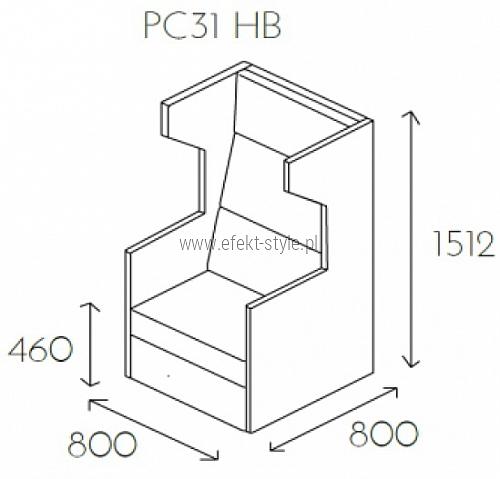 Fotel jednoosobowy PL@NET PC31 HB