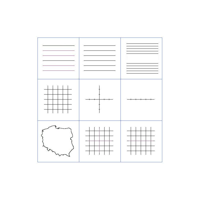 Liniatura do tablicy białej typu A/C