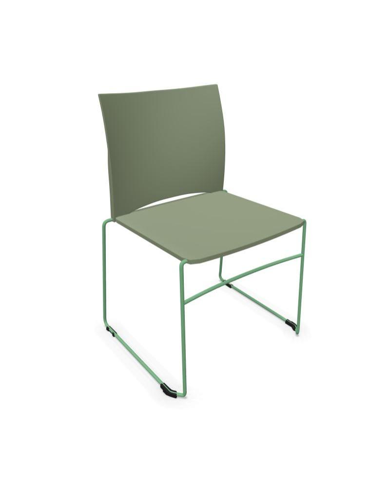 Krzesło konferencyjne ARIZ 550V na płozie - plastikowe