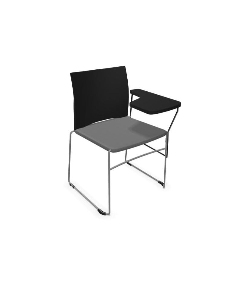 Krzesło biurowe konferencyjne ARIZ 560V na płozie  z blatem