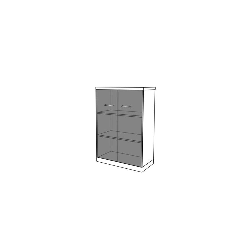 Szafa z drzwiami szklanymi CS16