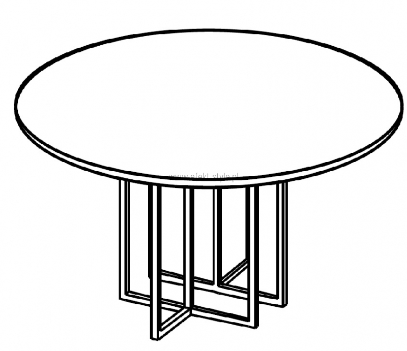 Stolik okolicznościowy fi 65 cm HX 6501