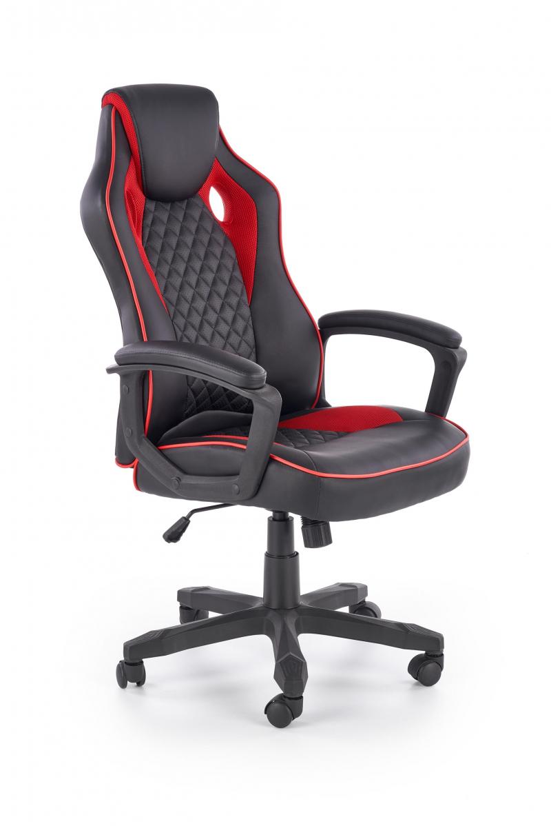 BAFFIN fotel gabinetowy czarny / czerwony