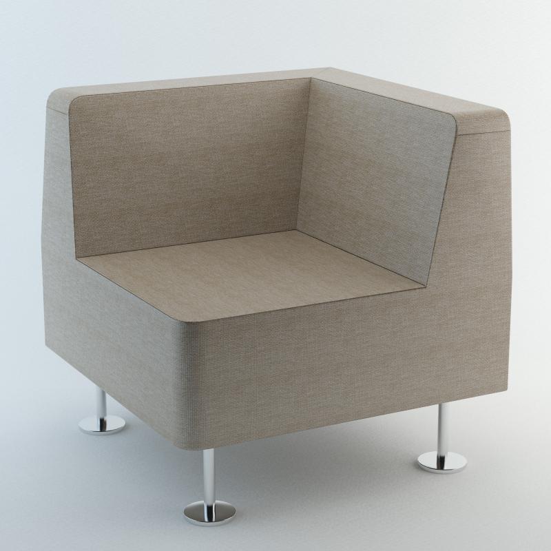 Fotel narożny 32 WALL IN - do łączenia z 2 ściankami
