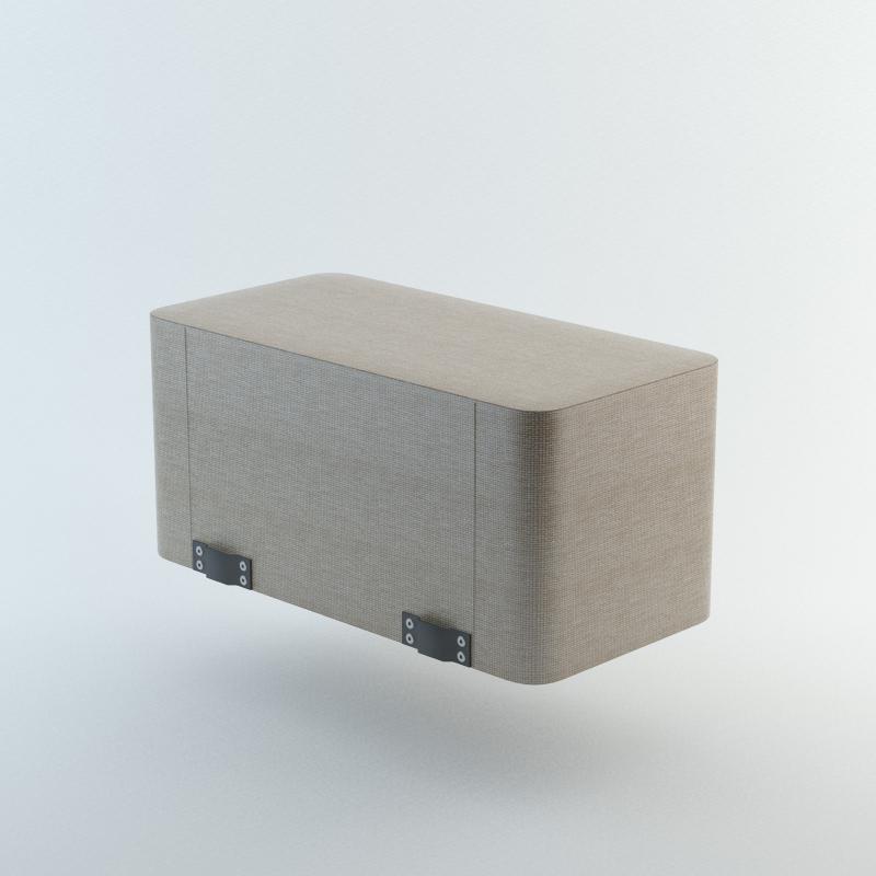 Pufa podłokietnik prostokątny P3 WALL IN