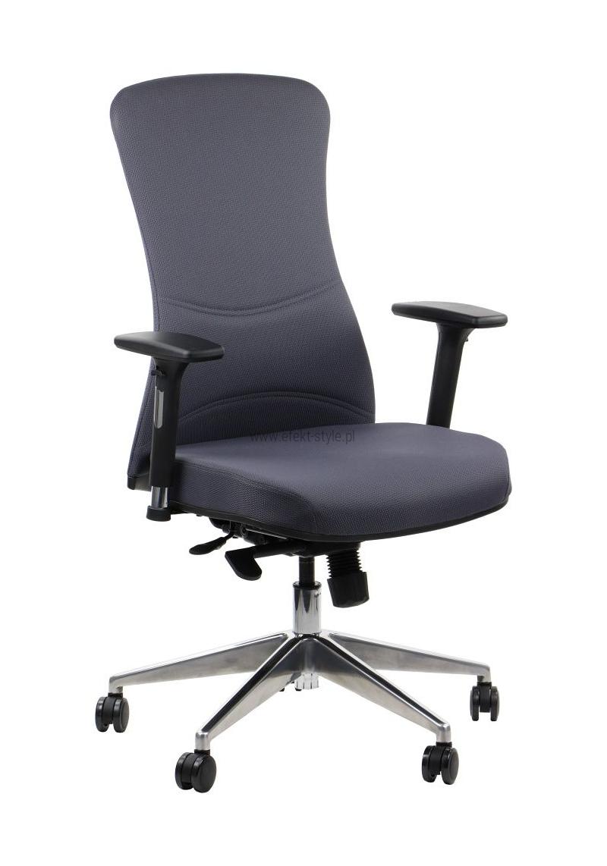 Fotel Biurowy obrotowy KENTON SZARY ALU