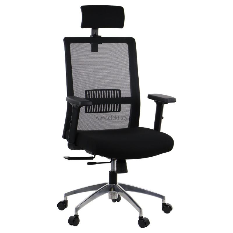 Fotel Biurowy Obrotowy RIVERTON M/H-ALU czarny