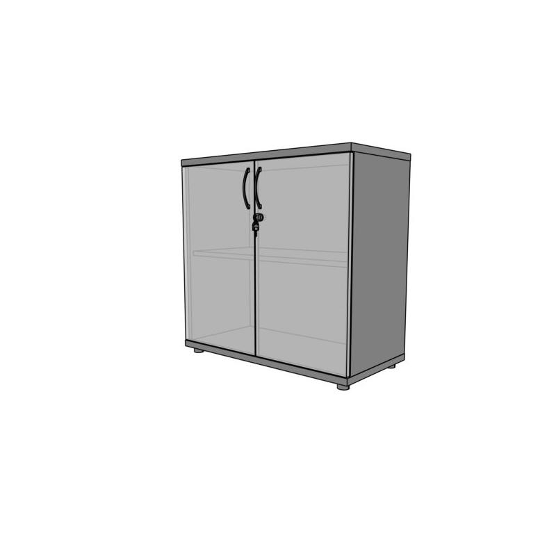 Regał biurowy PS27 80X39X75H ze szkłem
