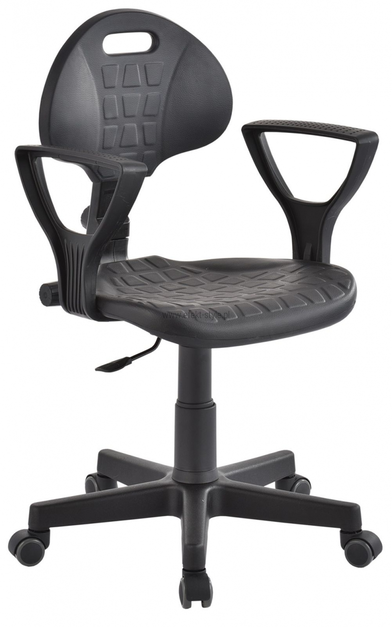Krzesło laboratoryjne niskie z podłokietnikami