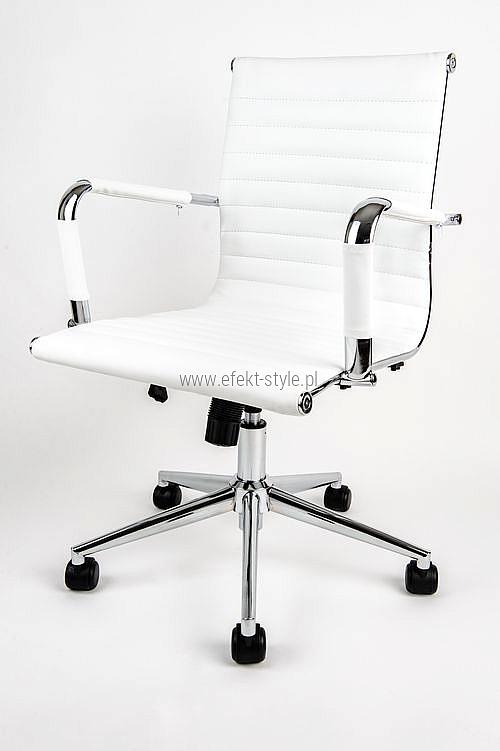 Fotel Biurowy Obrotowy Universe Biały Niski