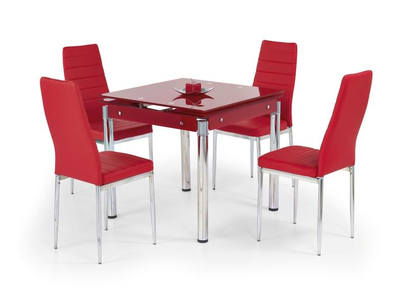 KENT stół rozkładany czerwony, stal chromowana (1p=1szt)