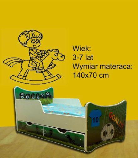 Łóżko SMB + materac - różne wzory - 140x70 -SMB