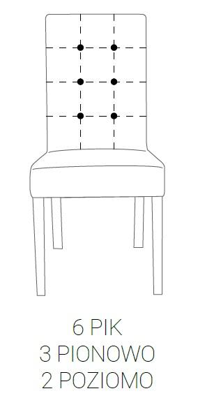 Krzesło SIMPLE 85h - 6 PIK: 3pion+2poziom