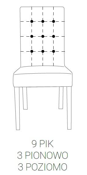 Krzesło SIMPLE 85h - 9 PIK: 3pion+3poziom