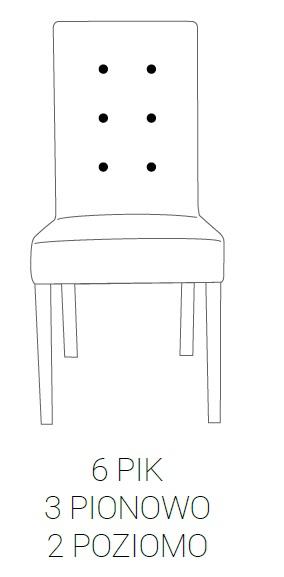 Fotel Modena 85h - 6 PIK: 3pion+2poziom