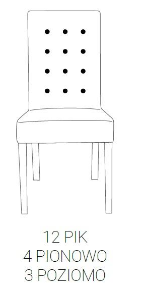 Krzesło SIMPLE 85h - 12 PIK : 4pion+3poziom