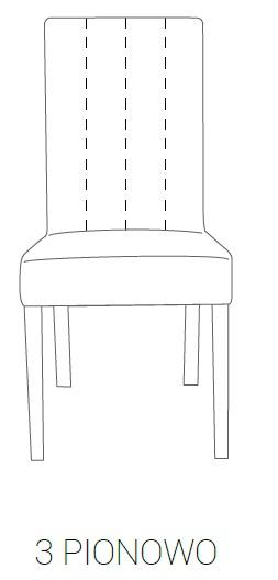 Fotel MILAN 85H - 3 pionowe