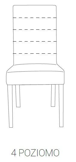 Krzesło SIMPLE 85h - 4 poziomo